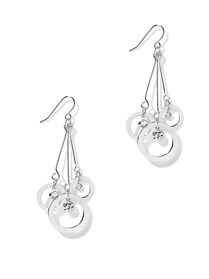 Circle-Themed Linear Drop Earring - New York & Company