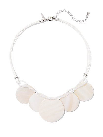Circular Disc Necklace  - New York & Company