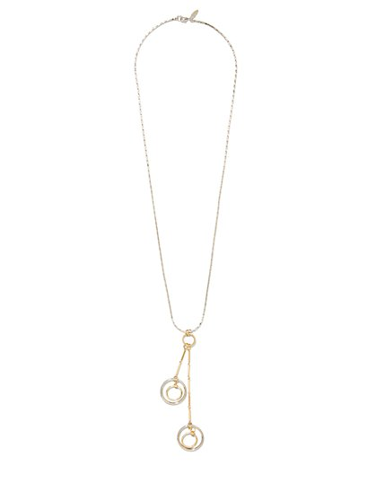 Circular Double-Pendant Necklace  - New York & Company