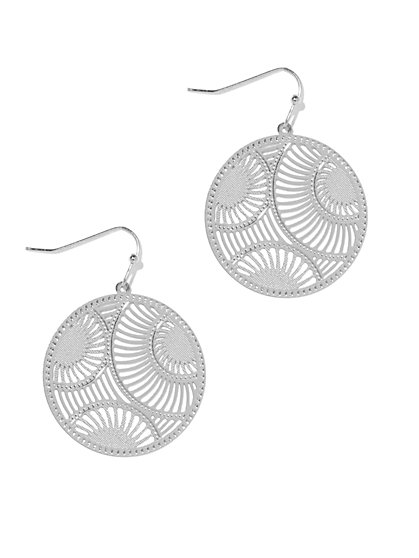 Circular Filigree Drop Earring  - New York & Company