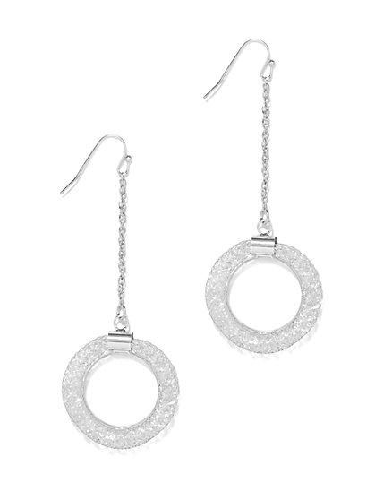 Circular Linear Drop Earring  - New York & Company