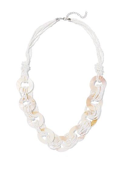 Circular Link Necklace  - New York & Company