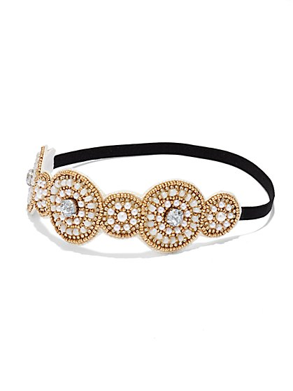 Circular Pearl Headband  - New York & Company