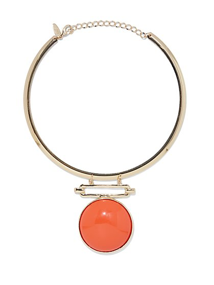 Circular Pendant Collar Necklace  - New York & Company