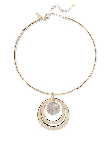 Circular Pendant Necklace  - New York & Company