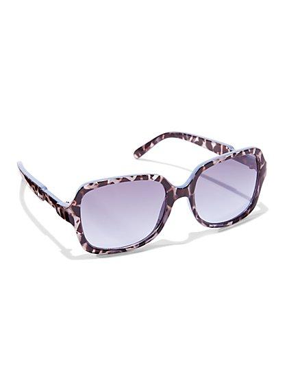 City Animal Print Sunglasses - New York & Company