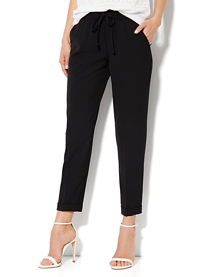City Crepe - 7th Avenue Cuffed Ankle Soft Pant - New York & Company