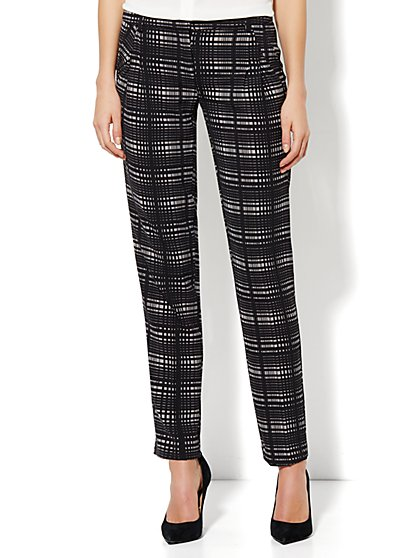 City Crepe - 7th Avenue Slim Ankle Soft Pant - Printed