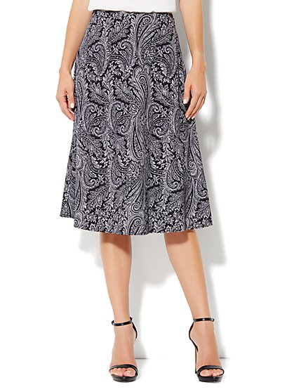 City Crepe - A-Line Skirt - Paisley