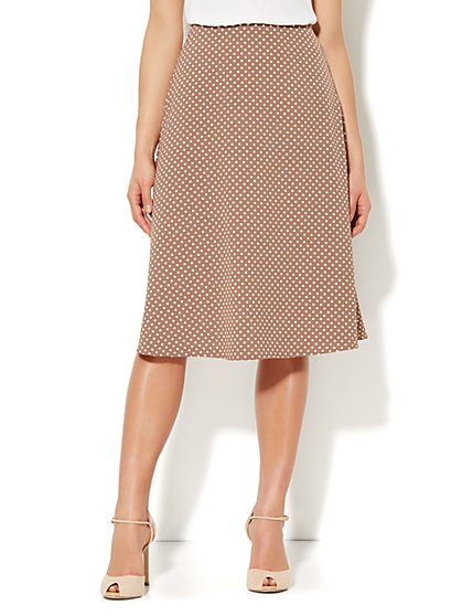 City Crepe - A-Line Skirt - Polka-Dot Print
