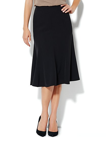 City Crepe - Flare Seamed Skirt - New York & Company