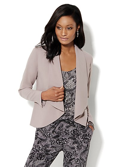 City Crepe - Flyaway Jacket - New York & Company