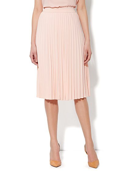 City Crepe - Long Pleated Skirt