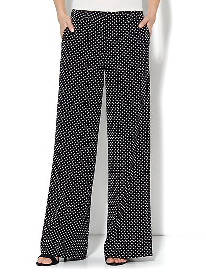 City Crepe - Palazzo Pant - Polka Dot - New York & Company