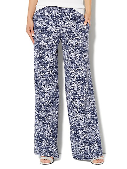 City Crepe - Palazzo Soft Pant - Abstract Print