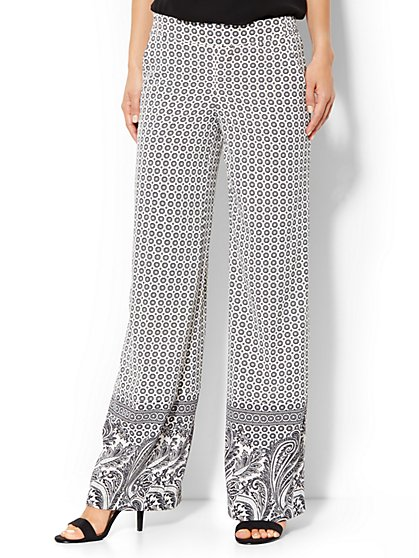City Crepe - Palazzo Soft Pant - Mix-Print - New York & Company