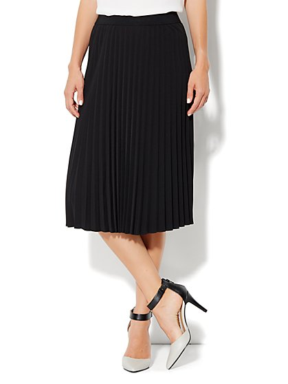 City Crepe - Pleated Full Skirt - New York & Company