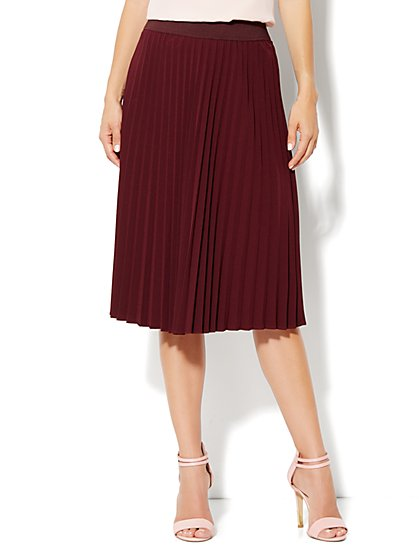 City Crepe - Pleated Full Skirt