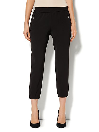 City Crepe - Slim Crop Soft Pant  - New York & Company