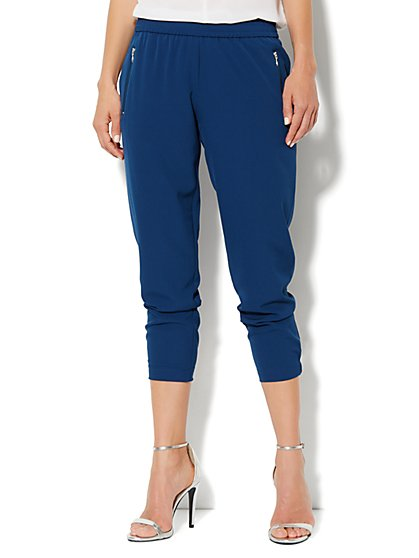 City Crepe - Slim Crop Soft Pant