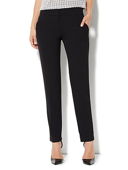 City Crepe - Slim Leg Soft Trouser Pant