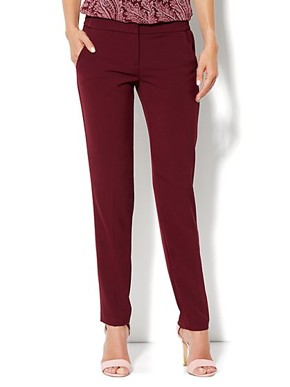 City Crepe - Slim Leg Soft Trouser Pant - New York & Company
