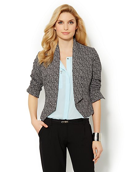 City Crepe - Soft Flyaway Jacket - Printed
