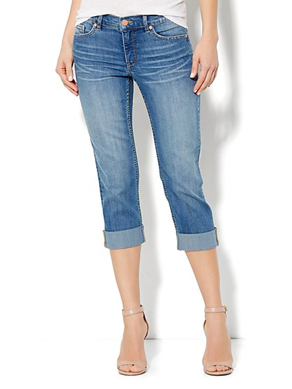 City Slim Crop - Marina Blue Wash