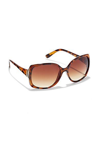 City Tear Temple Sunglasses - New York & Company