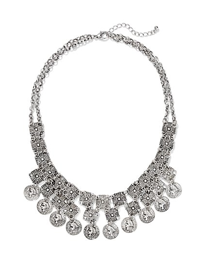 Coin Bib Necklace  - New York & Company