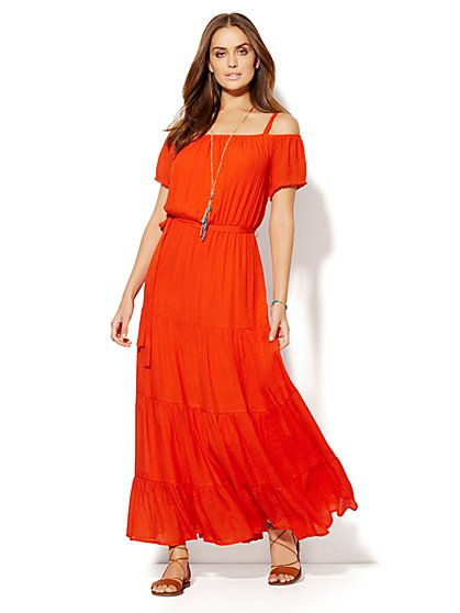 Cold-Shoulder Maxi Dress - New York & Company