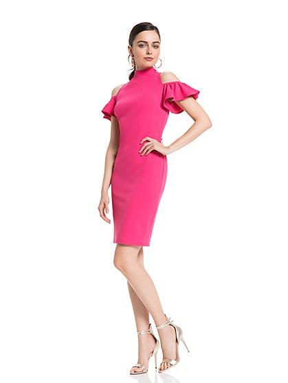 Cold-Shoulder Sheath Dress - New York & Company