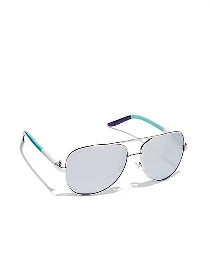 Colorblock Aviator Sunglasses  - New York & Company