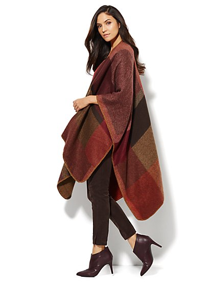 Colorblock Blanket Cape - New York & Company