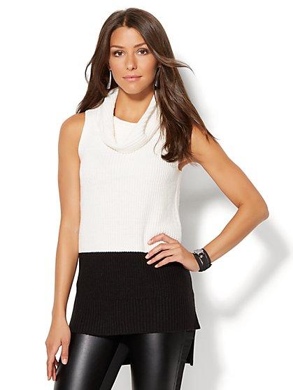 Colorblock Cowl-Neck Sweater  - New York & Company