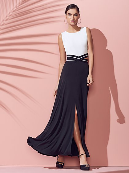 Colorblock Cutout Maxi Dress - New York & Company