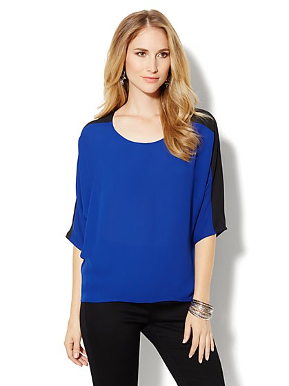 Colorblock Dolman Blouse - New York & Company
