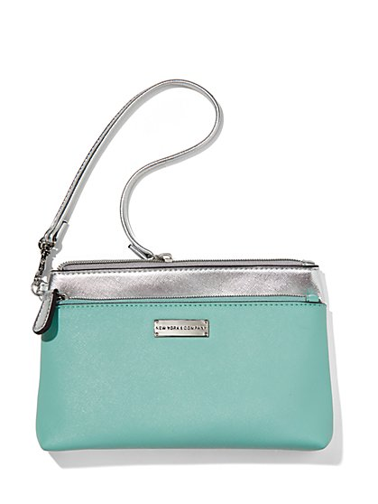 Colorblock Double-Zip Wristlet  - New York & Company