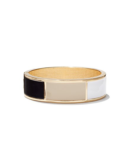 Colorblock Enamel Bangle Bracelet  - New York & Company