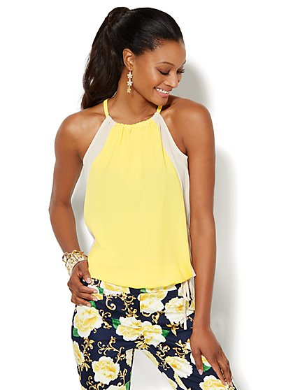 Colorblock Halter  - New York & Company