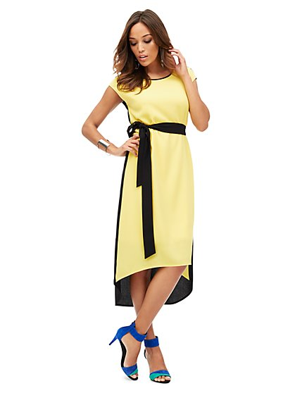 Colorblock Hi-Lo Maxi Dress  - New York & Company