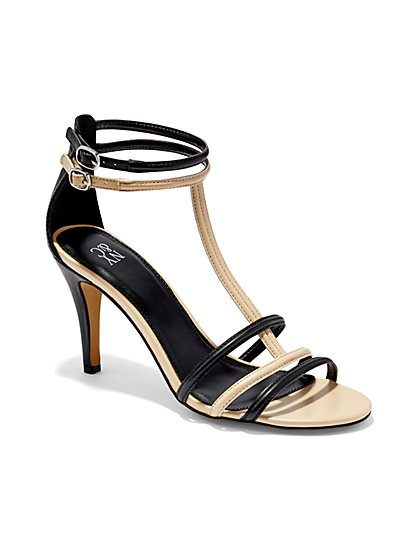 Colorblock High-Heel Sandal  - New York & Company