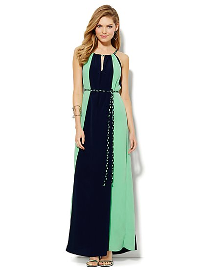 Colorblock Maxi Dress - Petite  - New York & Company