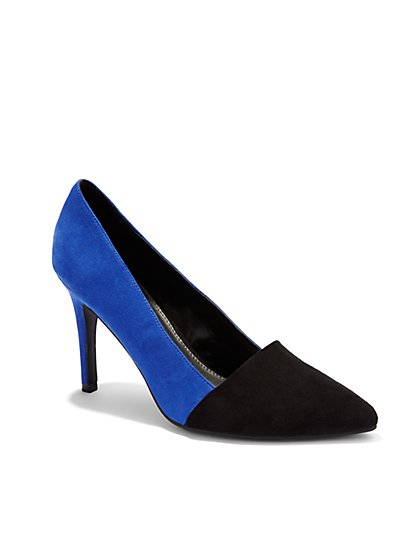 Colorblock Pointed-Toe Pump - New York & Company