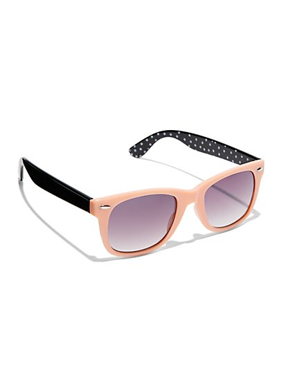 Colorblock Polka-Dot Sunglasses  - New York & Company