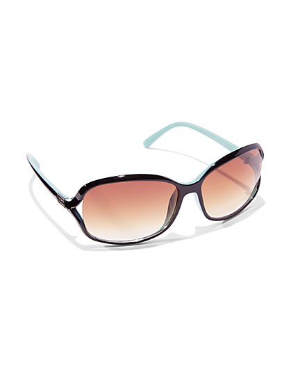 Colorblock Rectangular Sunglasses  - New York & Company