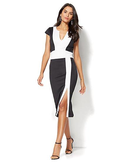 Colorblock Sheath Dress - Petite - New York & Company