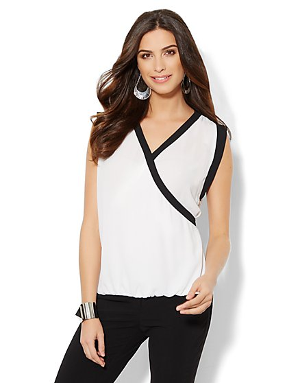 Colorblock Sleeveless Blouse  - New York & Company