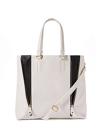 Colorblock Zip Tote