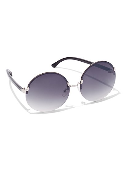 Colored-Lens Rimless Sunglasses   - New York & Company